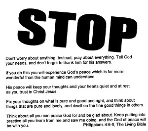 STOP! - Worrying Card